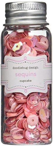 Doodlebug Design-mini-brad (Doodlebug Kraft in Farbe Sortiert Sequins-Cupcake)