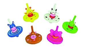 Andreu Toys 5.3 x 5.3 x 7.5 cm, los Modelos Animales 6 Paquetes Peonza, 36 Piezas, Multicolor