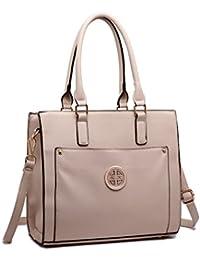 3c8bf5030066 Miss Lulu Women Designer Shoulder Handbags Ladies Faux Leather Tote Bags