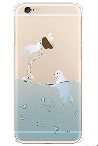 MISSOLY %2F6S iPhone 6, protezione %2FShock assorbimento Technology [] [] attaccato Dust-Cover trasparente posteriore morbida in poliuretano termoplastico, con motivo , per 4 1,78 (.7) iPhone 6 cm % Flying Sea Lion