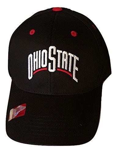 NCAA Ohio State Buckeyes Logo Cap, wählen Sie Ihre Farbe, Herren Unisex, Schwarz -