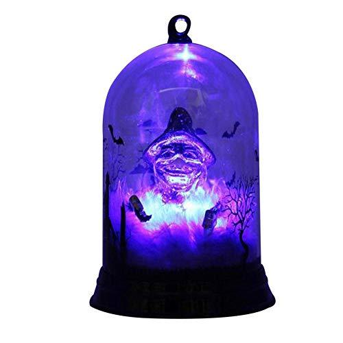 Aolvo Evil Kürbis-Licht Fantasie Halloween Böse Kürbis/Hexe Licht, perfekt ALS Bar-Dekoration, Party-Dekoration, Geschenk, 8,9 x 14,7 cm (3 Verschiedene Designs erhältlich) Witch Style