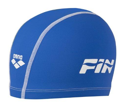 Arena unix cuffia piscina unisex adulto, collezione italia per la federazione italiana nuoto (fin), blu, taglia unica