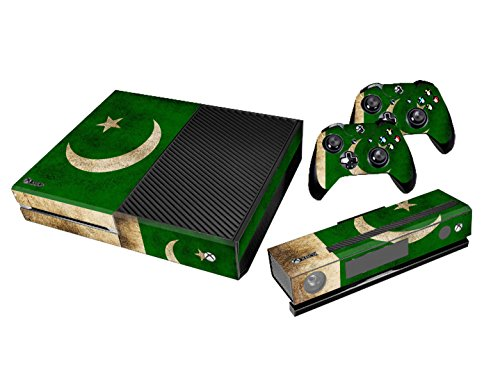 Xbox One Protective Vinly Skin Sticker Consola Decal Pegatinas + 2 Controlador & Kinect Skins Set (Flags Pakistan