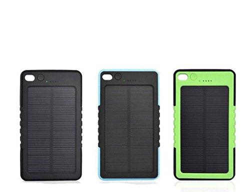 Resistente al agua 8000mAh solar power bank batería USB con linterna LED mosquetón, amarillo