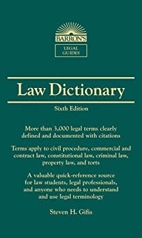 Law Dictionary, (Mass Market) 6th Ed. par [Gifis, Steven H.]