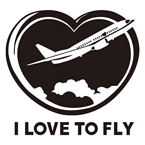 jiushizq I Love To Fly Wall Stickers Camera da Letto per Bambini Nursery Wall Decals Aircraft Pattern Wallpaper 44cm X 46cm