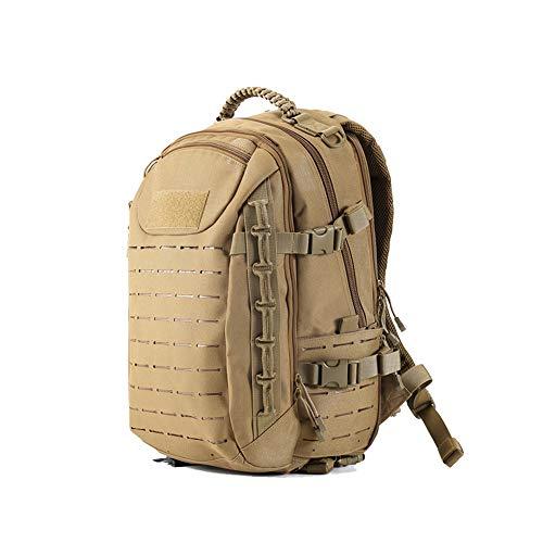 Poooooi Militärrucksack Tactical Airsoft Mountaineering Bag 25L Wasserdicht, Kratzfest, Tragbar, Winddicht Für Männer Und Frauen,Khaki