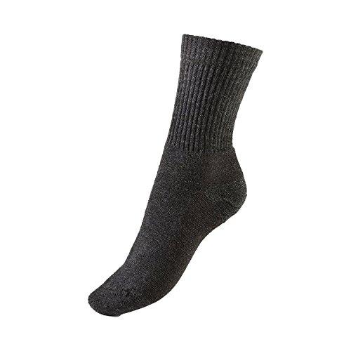 GoWell Med Thermo - extra-warme Socken mit Merino-Wolle - ideal bei kälte-empfindlichen Füßen - Größe IV - Farbe anthrazit - 1 Paar
