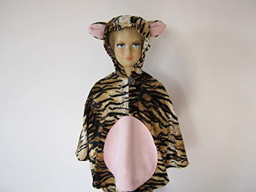 fasching karneval halloween kostüm cape für kleinkinder aus fellimitat tiger