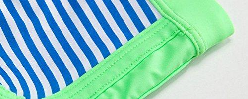 KUWOMINI.Fashion Männer Flach Badehose Streifen Nähen Heiße Quellen Strand Flach Badehose Green