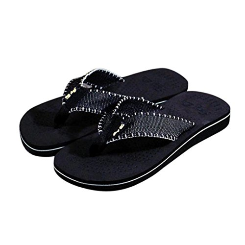 Homens Flip-flops, Aleta Homens Shobdw Listras Verão Sandálias Sandálias Sapatos Flip Flip-flops Preto