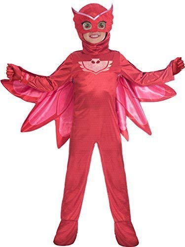 Fancy Me Jungen Mädchen Offiziell Pyjama Masken Owlette Tv-Charakter Superheld Kostüm Kleid Outfit 3-8 Jahre - 3-4 Years (Jungen Superhelden-outfits Für)