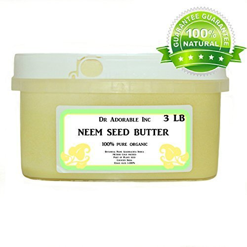 Neem Seed Butter Pure Organic Cold Pressed Unrefined Skin Recovery Relief Healing 48 oz/3 lb