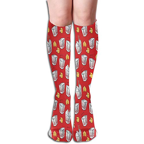 Scale) Take-out Boxes - Chinese Food Takeout With Fortune Cookies - Red - LAD19BS Elastic Cotton 50cm High Socks Sports Socks Novelty Crazy Funny Compression Socks ()