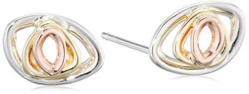 fab9194e4c5d Elements Gold Pendientes de botón Mujer oro blanco - GE2171