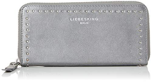Liebeskind Berlin Damen Slsallyw8 Slov2m Geldbörse, Silber (Iron Silver), 2.0x10.0x19.0 cm