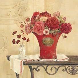 Toile 'Linen and Roses' par Kathryn White - Taille de l'image L 40 cm x H 39.5 cm