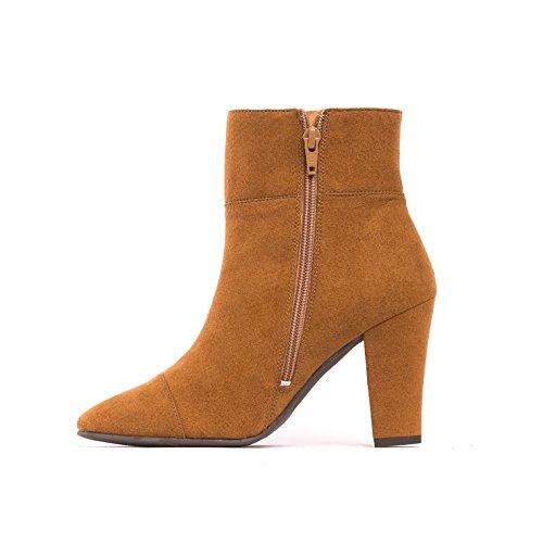 NAE Bline - Damen Vegan Stiefel (38, Braun) - 3