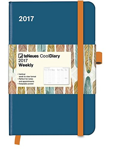 2017 Petrol and Feather Diary - teNeues Cool Diary - Weekly 9 x 14 cm por teNeues