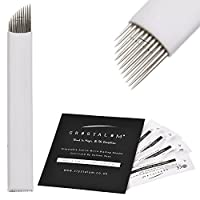 Microblading Blades 11 Pin x5 Eyebrows DisposableTattoo Needles Tools by CRYSTALUM