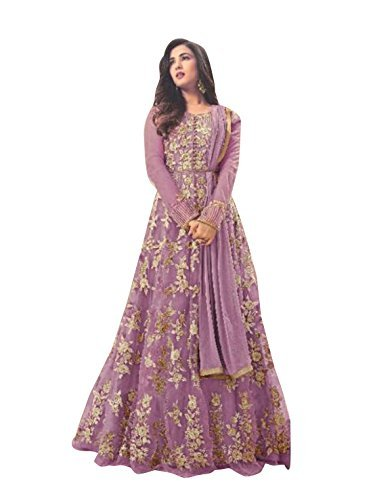 Crazy Women's Embroidered Party Wear Gown (Pink)