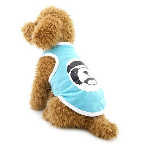 selmai Kleine Hunde Shirts Baumwolle Bär Print Puppy Tank Top Weste Pet Strand Reise Urlaub, tragen Sommer Hund Chihuahua Yorkie Kleidung Textilien Outfits (Shih Tzu Bär Kostüm)