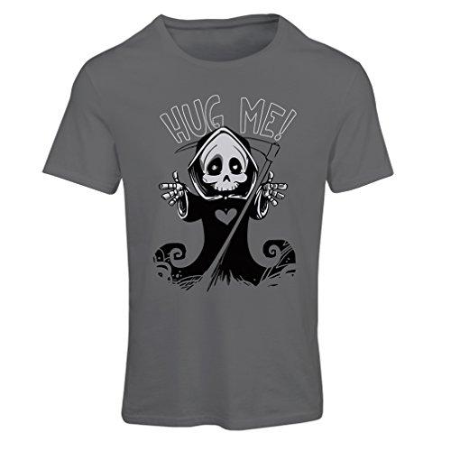 Frauen T-Shirt Der Tod kommt! Halloween Skelett Kleidung, böse Schädel Sichel (XX-Large Graphit - Popeye Kostüm Für Hunde