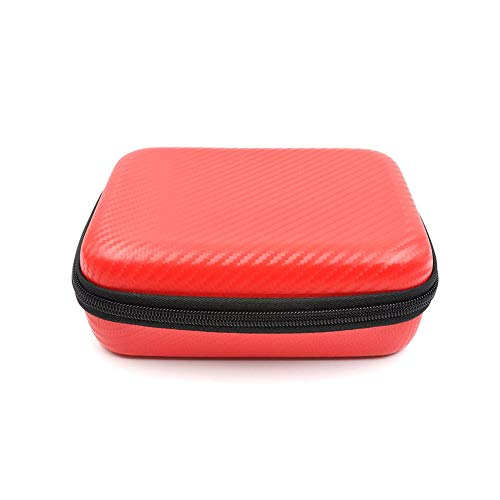 Carrying Bag PU Carbon Pattern Storage Box for STARTRC OSMO Action/Pocket Red