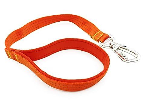 Kurze Hundeleine Breite Starke Griff für große Hunde Gute Qualität Langlebige Nylon Führleine Bequeme Trainingsleine Übungsleine Orange