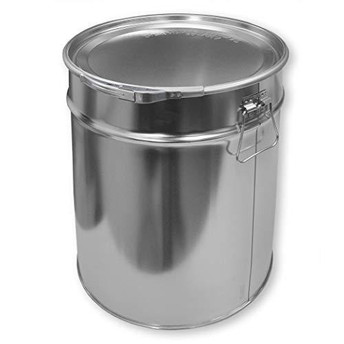 Weißblecheimer / Hobbock 30 Liter inkl. Deckel mit Spannring