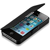 kwmobile Funda para Apple iPhone 4 / 4S - Flip cover para móvil - Cover plegable en negro