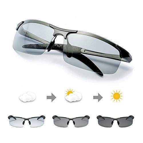 TJUTR Rectangulares Gafas Sol Hombre Polarizadas Premium