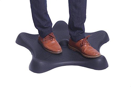 Amcomfy Multifunktionale ergonomische Anti-Ermüdungsmatte komfortabel Rutschfest wasserdicht mit Unebenheiten für EIN gesundes Arbeiten im Stehen, Schwarz (76 x 76 x 6 cm, Schwarz)