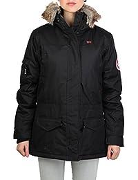 Geographical Norway - Abrigo de invierno con capucha forrada de pelo modelo Atlas para mujer