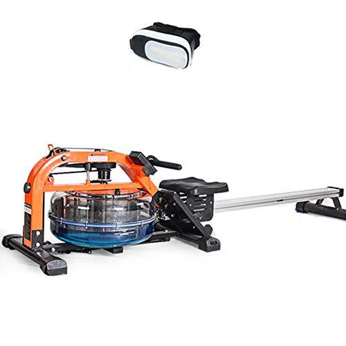 YYD Wasserrudersport Rudergerät kommerzielle Fitnessgeräte Wind Widerstand Flüssigkeit Widerstand Wasser-Blockiermaschine (Mit VR-Brille),Steelframe