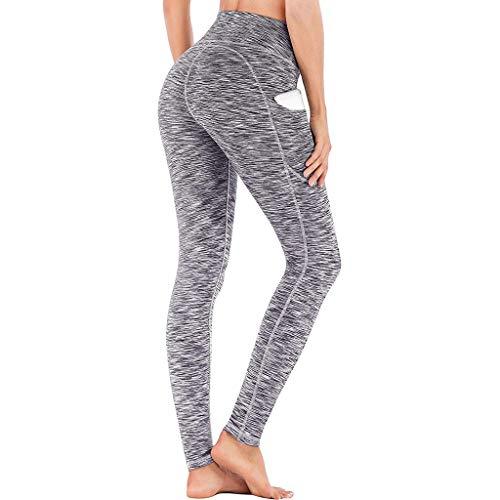 hahashop2 Laufhose Damen Lang Sportleggings Yoga-Hose Leggins Stretch Hose Tight Hose für Yoga Sports und Laufen Jogginghosen für Damen mit hoher Taille -