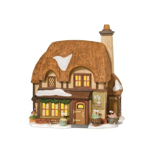 département 56 Dickens 'Village 25e Anniversaire Vert Marchand Lit Maison