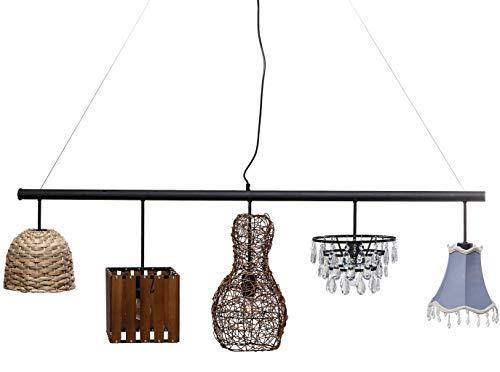 Kare Hängeleuchte Parecchi Art House 150cm, edle Deckenleuchte mit 5 verschiedenen Lampenschirmen, schöne Pendelleuchte, (HxBxT) 46 x 150 x 25 cm