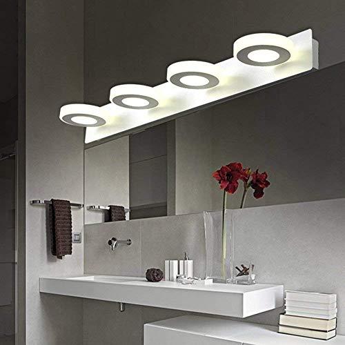 Badewanne Spiegel Lampen - einstellbare LED-Spiegel vorne Licht Einfache moderne Malen Acryl Spiegel vordere Scheinwerfer Badezimmer Make-up-/Wandleuchte - - Make-up-Spiegel Scheinwerfer (Farbe: Weißes Licht-60cm-4 * 3 W)