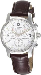 Tissot Reloj de caballero de cuarzo, correa de piel color marrón