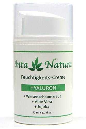 Hyaluron-Feuchtigkeits-Creme mit Aloe Vera ✔ Anti-Falten-Creme mit Hyaluronsäure für Gesicht, Hals & Dekolleté ✔ 50 ml Anti-Aging Feuchtigkeitspflege für Ihre Haut ✔ Naturkosmetik made in Germany