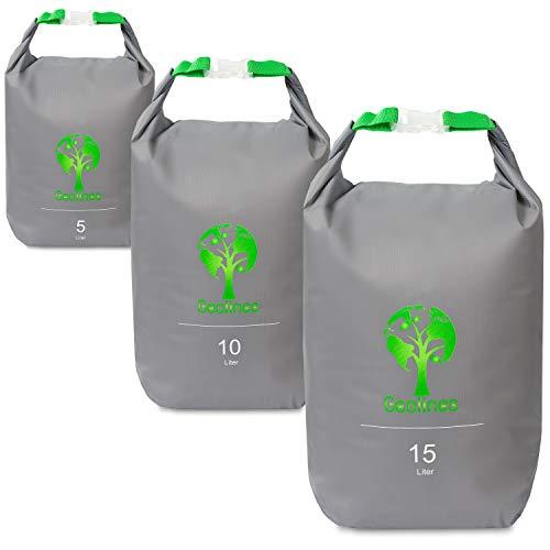 Drybag Packsack/Ultra Light Packsack (grau, Set 5 Liter, 10 Liter, 15 Liter)