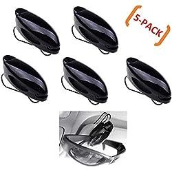 WESEEDOO Auto Brillenetui Sonnenbrillen-Visierclip Autoglashalter Universal Autogläser-Clip (5 Pack)