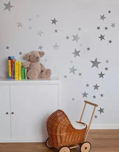 55mixtes Taille étoiles Stickers muraux Autocollant Kid Art Chambre d'enfant Décoration chambre...