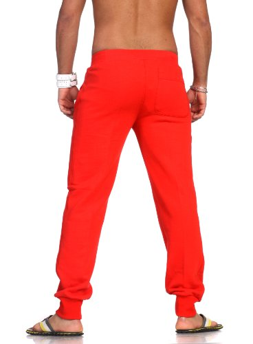 Urban Classics Mens Jeans Tackle Rosso