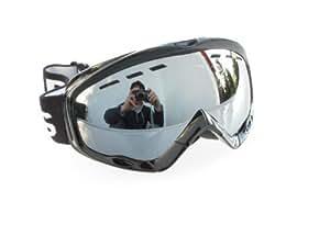 Ravs Lunettes De Ski Snowboard Casque de ski Compatible Double argent de rondelle Revêtement miroir