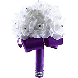 Ramo Novia Artificial - color morado