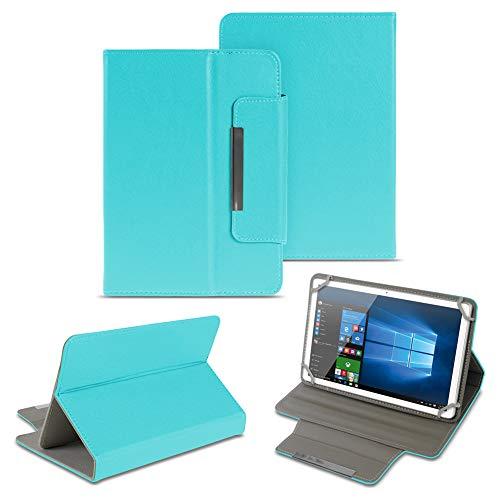 NAUC Universal Tasche Schutz Hülle 10-10.1 Zoll Tablet Schutzhülle Tab Case Cover Bag, Farben:Türkis, Tablet Modell für:Kiano Slim Tab 10.1