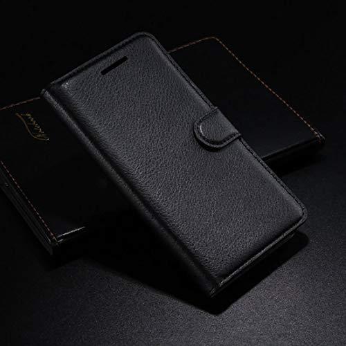 HualuBro Funda Doogee Mix 2, [Protección Todo Alrededor] Premium PU Cuero Leather Billetera Wallet Carcasa Case Flip Cover para Doogee Mix 2 5.99 Inch (Negro)